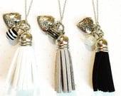 Tassels-tassel necklace-heart locket- keepsake- locket jewelry-tassel jewelry-gift for her-christmas gift for her