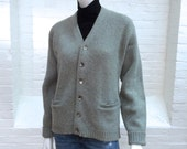 vintage boyfriend cardigan // men's women's sweater //  unisex winter sweater // 1960s