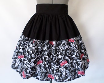 Zombies, The Walking Dead  High Waist Skirt