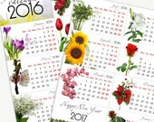 Printable DIY 2016 Mini  Flower Calendar