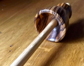 TIBETAN Type DROP SPINDLE Unique Hand Turned and Beautifully Finished - 29 cm long