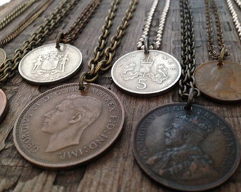 Vintage assemblage Know Your Worth, you are priceless, invaluable personalized coin necklace