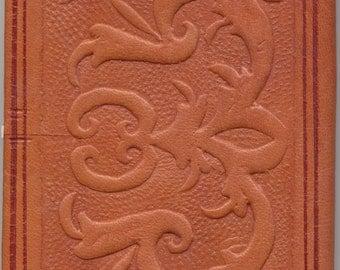 Handmade long wallet - vintage leather - mens ladies wallet