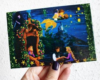 In Rapunzel Love Mini canvas Reproduction