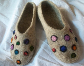 Felted slippers, Woman slippers, Wool s'lppers, Handmade house shoes