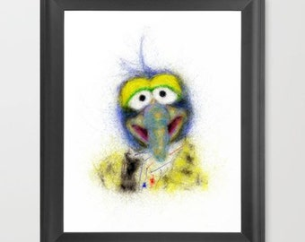 Gonzo, The Muppets INSTANT DOWNLOAD - nursery room, digital download, prints, kids art, television shows, geeky gifts, decor art, fun prints