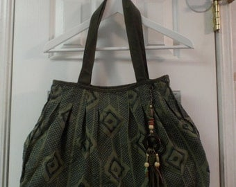 Boho Green Hobo Style Purse Shoulder Bag Embellished Fall Fashion With A Zen Vibe To Boot