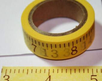 Yellow Measuring Tape Washi Tape