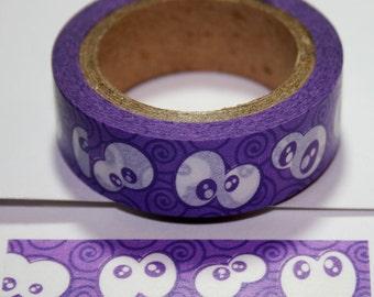 Purple Google Eyes Washi Tape