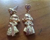 Vintage Precious Moments drop earrings