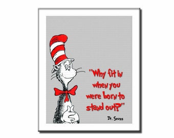 INSTANT DL- Dr seuss printable wall decor why fit in poster