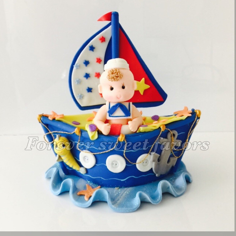 SAILOR CAKE TOPPER. Nautical Cake Topper. First Birthday Cake
