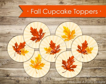 Fall Festival Cupcake Toppers - Instant Download