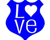Law Enforcement Badge Decal for Car, Cup, Laptop, ETC.