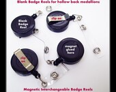 Blank Magnetic Badge Reel, ID holder, name tag, retractable badge, badge holder, for Hollow Back Medallions