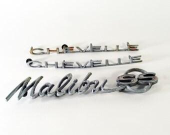 Chevy Chevelle Malibu SS Emblem Set, Super Sport, 1964, Car Accessories, Muscle Car