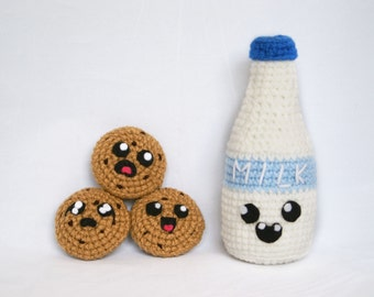 Milk and Scary Cookies Amigurumi Quirky Collection Amigurumi