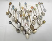 20+  Assorted Vintage Collectible Spoons, Mystery Lot for Collectors, Resale, Crafts or Jewelry Makers