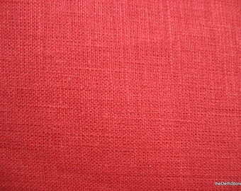 "56""  Wide Rust Pure Linen Fabric by Yard"