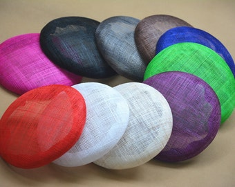 15.5 cm Round sinamay Button Fascinator Base Sinamay Millinery Fascinator Hat Base 10 colors to choose B065