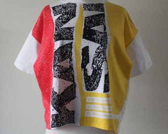 Vintage 1980s Colorful Print Kansai T-Shirt