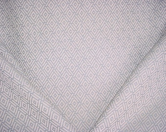 2-7/8 yards Cowtan and Tout F3915 Milne in Old Blue - Textured Woven Linen Diamond Trellis Drapery Upholstery Fabric - Free Shipping
