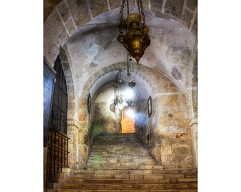 Israel Photography, Church of the Holy Sepulchre, Jerusalem, Holy Land Photo,  Fine Art Photography