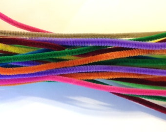 Bright Neon Colorful Chenille Pipe Cleaner stems crafts Model craft wire