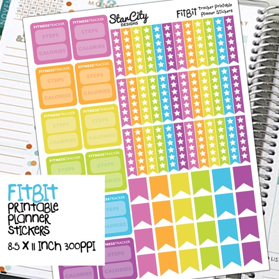 FitBit Printable Tracker Stickers