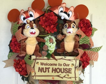 Chip and Dale Welcome Wreath