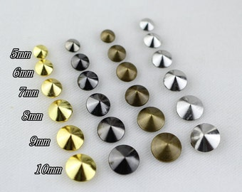 100pcs Alloy Spike Spots,Cone Spots For Shoe,Purse,Cone Rivet,Leathercraft Spots,CONE Rapid Rivet Studs spikes for leathercraft