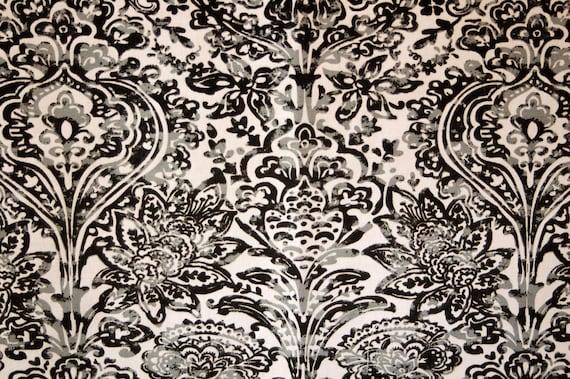 Home Decor Fabrics By The Yard: PREMIER PRINTS FABRIC, Shiloh Macon Cool Grey, Home Decor