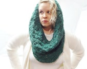Knit Scarf Infinity, Infinity Scarf Knit, Handmade Scarves for Women, Circle Scarf, Knit Shawl