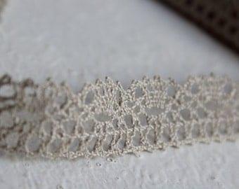 Grey Linen lace trim