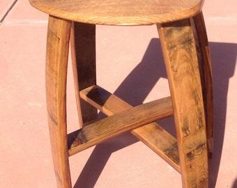 "24"" wine barrel stool"
