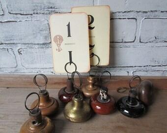 Table Number Holder Vintage Doorknob Cottage Chic Rustic Wedding Decor Photo Holder