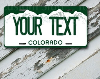 "License Plate Colorado Customizable 6"" x 12""  Aluminum Vanity License Plate"