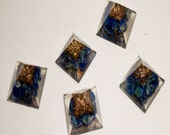 Orgone Lapis Lazuli Pyramid Minis 5th Chakra Healing
