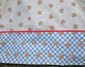 Vintage Double/Full Flat Sheet Floral Pattern