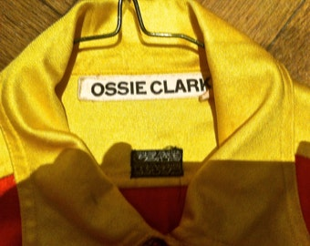 Vintage 70s Ossie Clark Glad Rags Two Tone Blouse.
