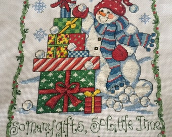 Christmas completed cross stitch