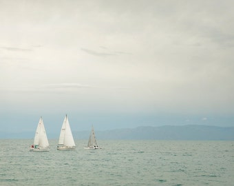 Three Sailboats-  Landscape Utah Photography 12x8