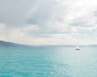 Sailing Bear Lake-  Landscape Utah Photography 48x30