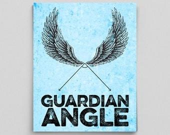 Guardian Angle Math Poster for Teachers Funny Math Joke Angle vs Angel English Misspelling Grammar Poster Classroom Poster Gifts for Teacher