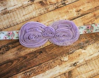 Large Lavender Bow Headband- Bow Headband- Baby Headband- Newborn Headband- Infant Headband- Headband- Girls Headbands- Lavender Headband