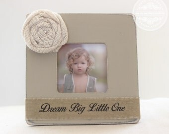 Baby Gift Pregnancy Ultrasound Gift Picture Frame 'Dream Big Little One' Personalized Custom Rustic Beach Shabby Gift for New Baby Mom