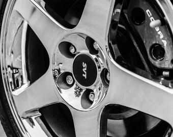 SVT Cobra Wheels, wall art, home décor, car photo, vintage art, truck, auto, fine art print, wall décor, print, car photography, gift, car