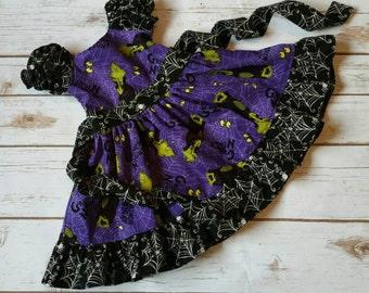 Size 6-12m Ready to Ship Dr Seuss Halloween Dress