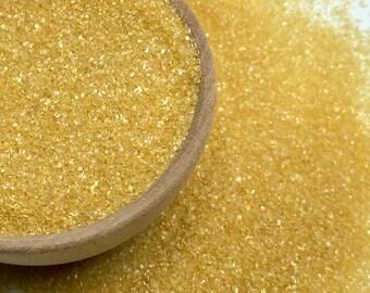 Gold Sanding Sugar - Cake Cookies Cupcake Sprinkles - Baking Candy Making Party Supplies