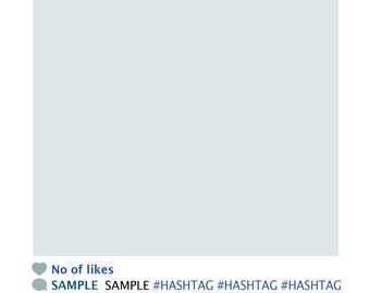 Printable InstaFrame instagram Inspired Theme props for photobooth
